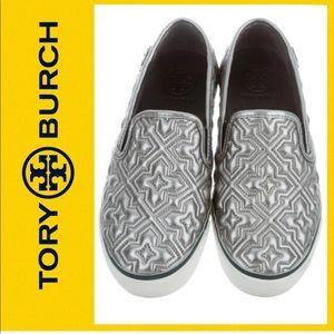 Tory Burch Jesse 2 Metallic Slip-on Sneakers SZ5.5